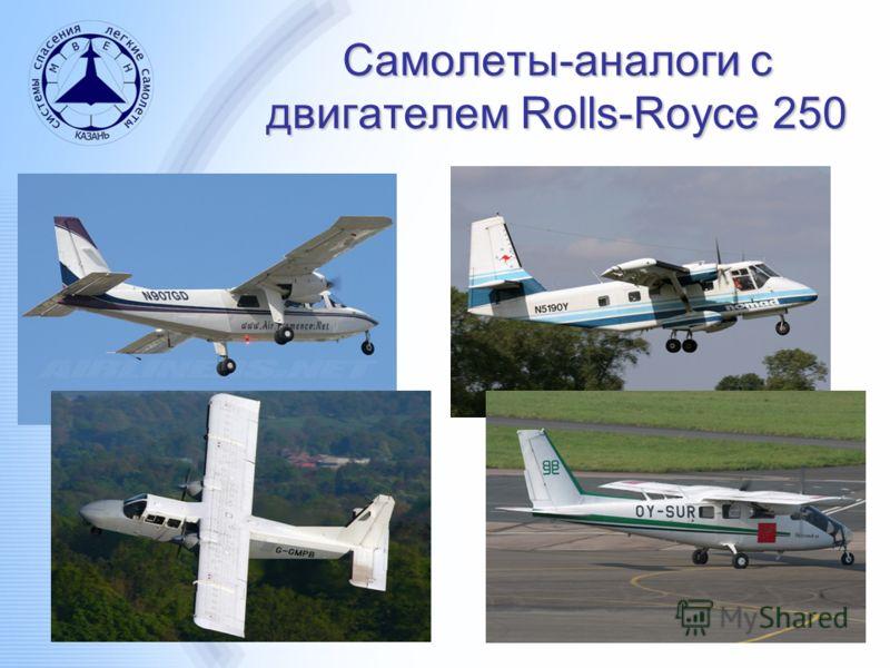 Самолеты-аналоги с двигателем Rolls-Royce 250