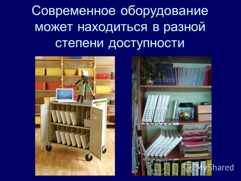 Современное оборудование может находиться в разной степени доступности