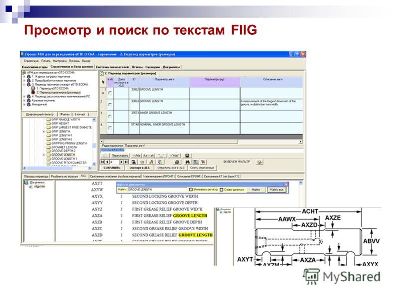 Просмотр и поиск по текстам FIIG