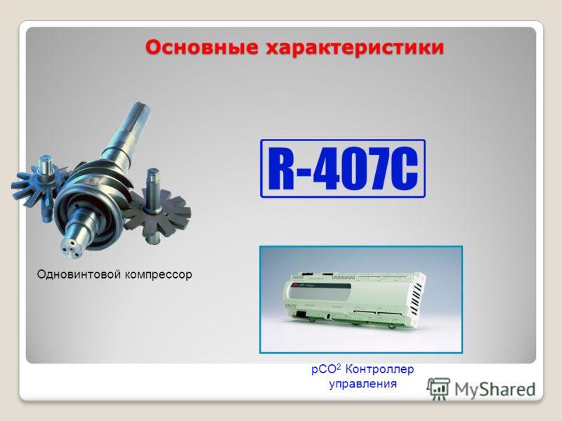 Основные характеристики Одновинтовой компрессор pCO 2 Контроллер управления