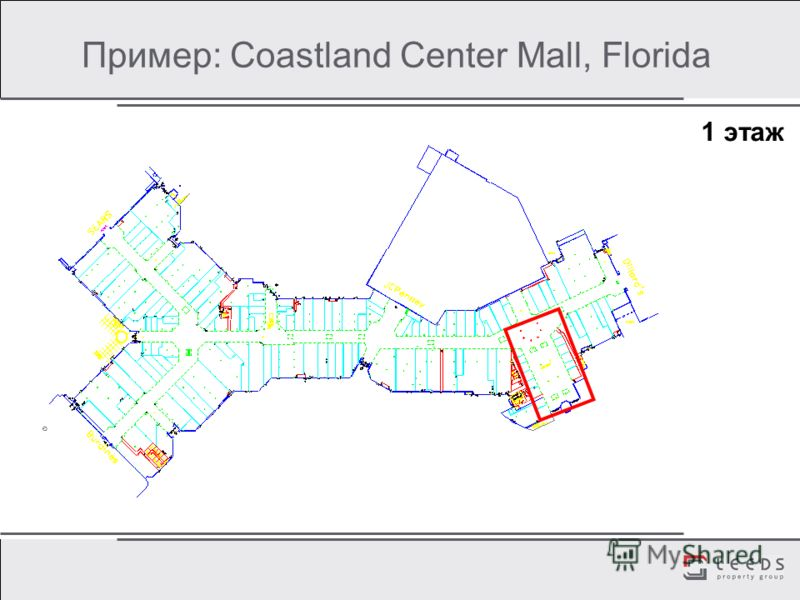 Пример: Coastland Center Mall, Florida 1 этаж