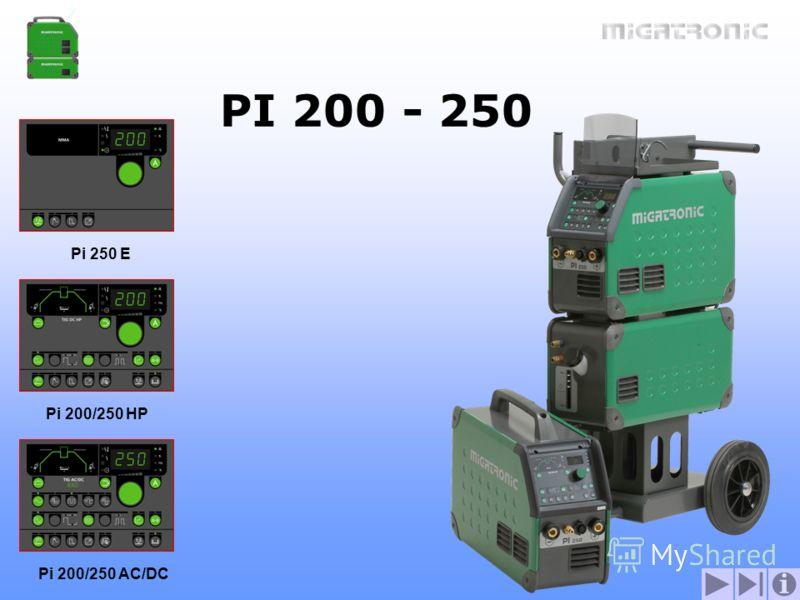 Pi 250 E Pi 200/250 HP Pi 200/250 AC/DC PI 200 - 250