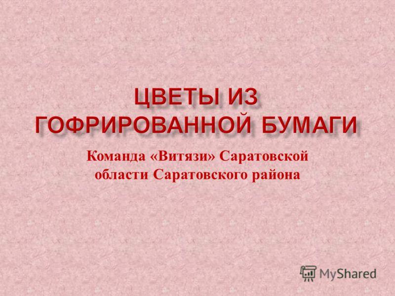 Команда « Витязи » Саратовской области Саратовского района