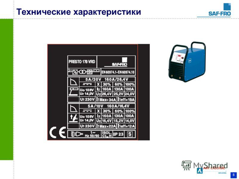 8 Технические характеристики