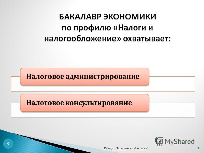 9 9 Налоговое администрированиеНалоговое консультирование