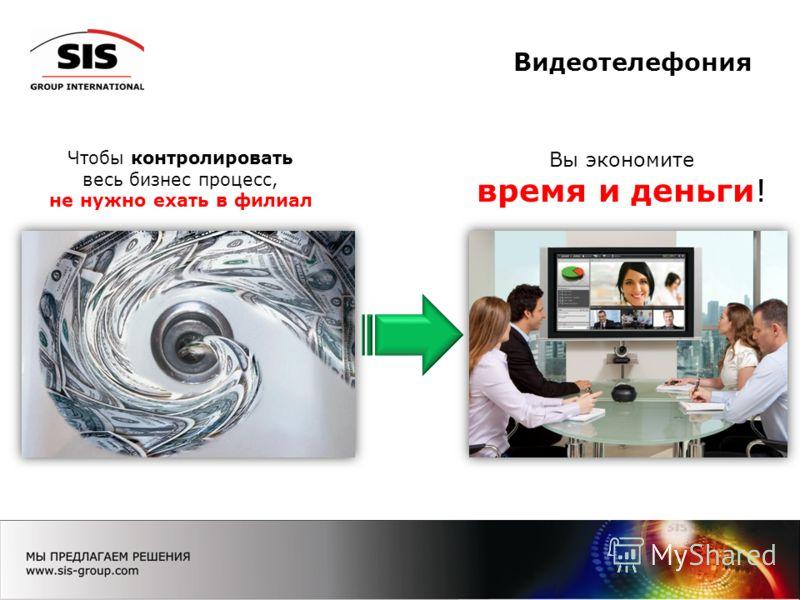 Видеотелефония Чтобы контролировать весь бизнес процесс, не нужно ехать в филиал Вы экономите время и деньги!