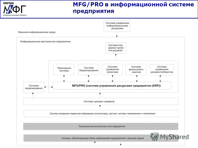 MFG/PRO в информационной системе предприятия