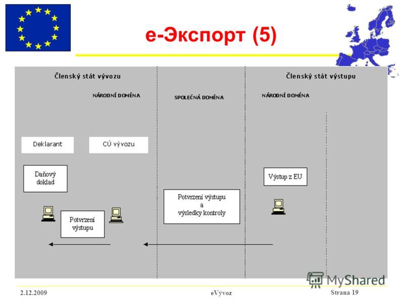 Strana 19 2.12.2009eVývoz e- Экспорт (5)
