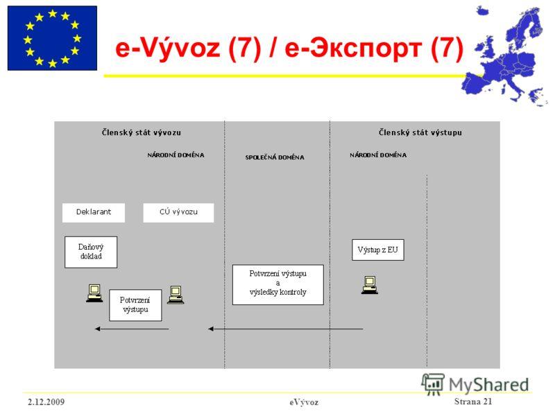 Strana 21 2.12.2009eVývoz e-Vývoz (7) / e-Экспорт (7)