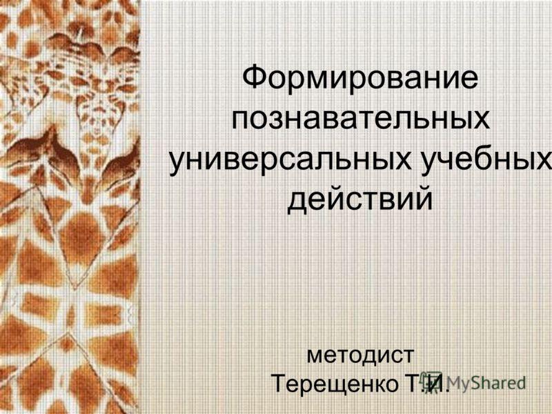 Формирование познавательных универсальных учебных действий методист Терещенко Т.И.