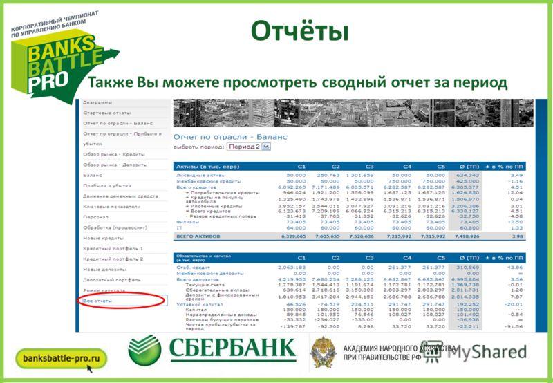 Организаторы Отчёты Также Вы можете просмотреть сводный отчет за период