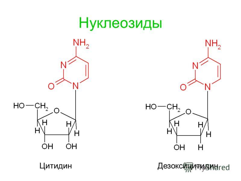Нуклеозиды Цитидин Дезоксицитидин