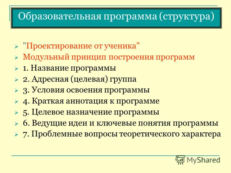 Образовательная программа (структура)