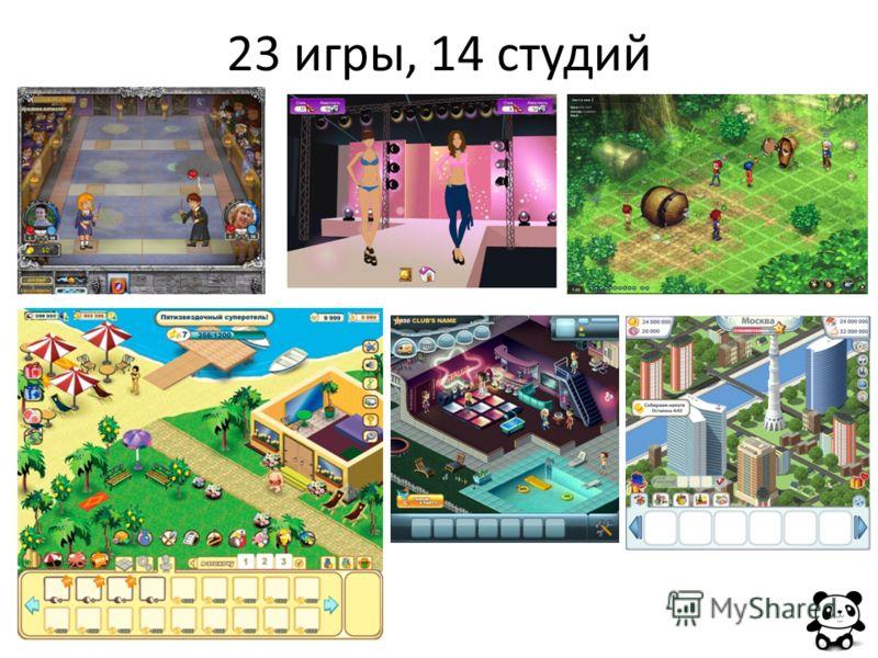 23 игры, 14 студий