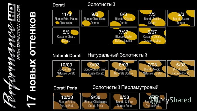 17 новых оттенков Золотистый Натуральный Золотистый Золотистый Перламутровый