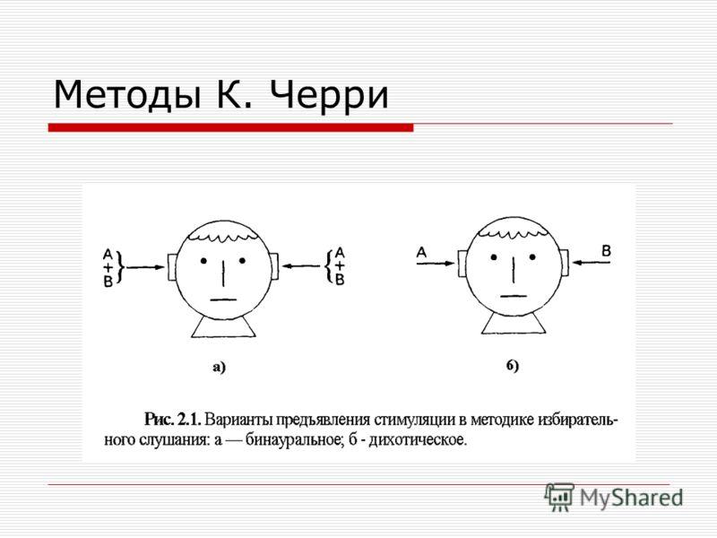 Методы К. Черри