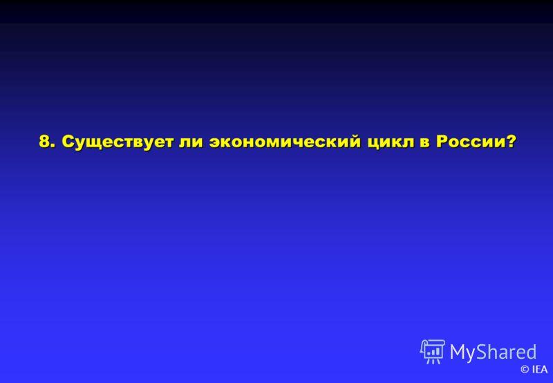 © IEA 8. Существует ли экономический цикл в России?