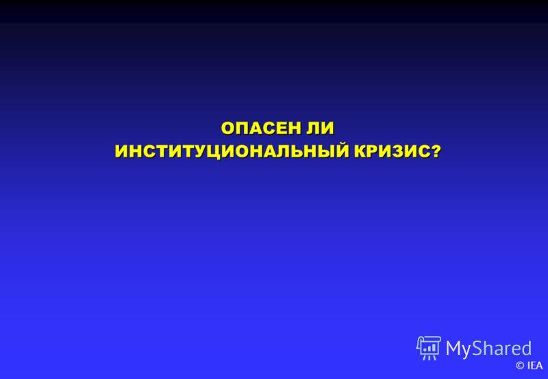 © IEA ОПАСЕН ЛИ ИНСТИТУЦИОНАЛЬНЫЙ КРИЗИС?