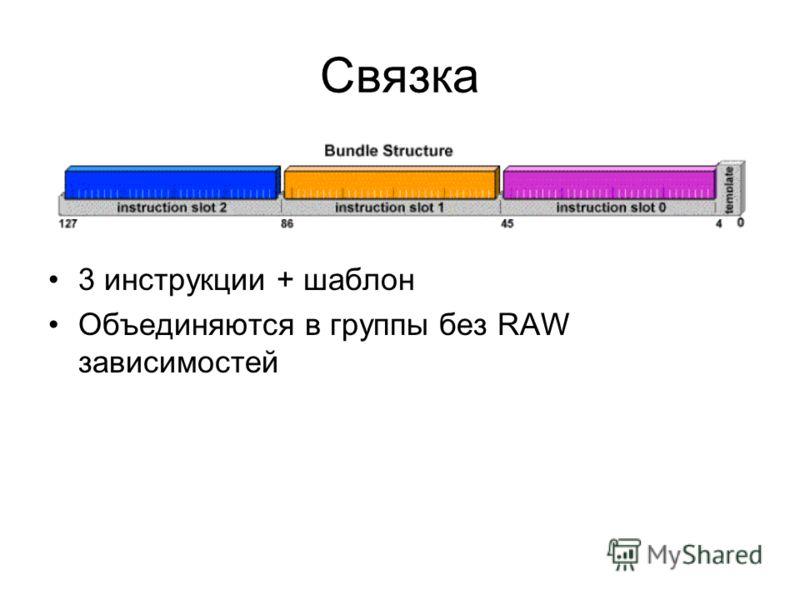 Связка 3 инструкции + шаблон Объединяются в группы без RAW зависимостей