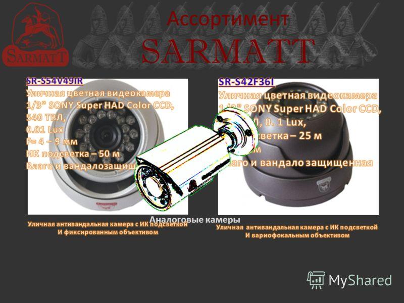 Ассортимент SARMATT Аналоговые камеры