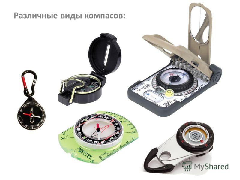 Различные виды компасов: