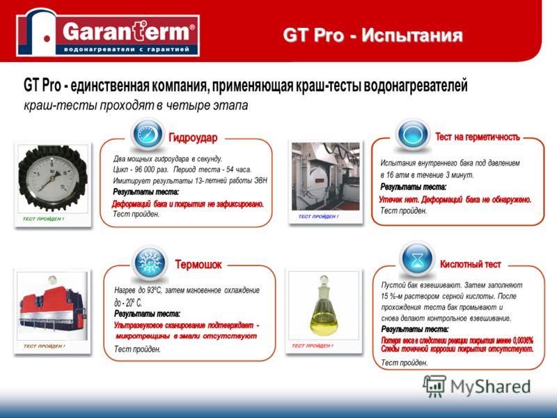 GT Pro - Испытания