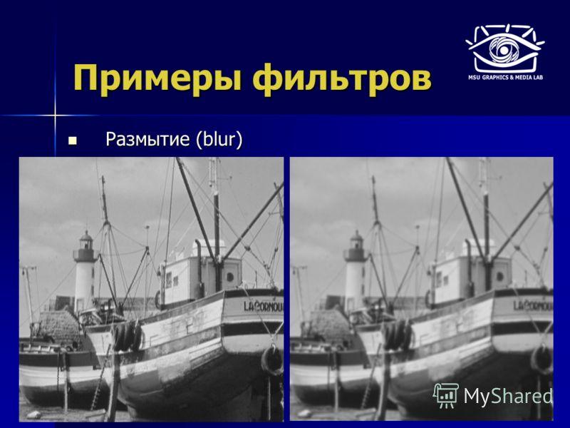 Примеры фильтров Размытие (blur) Размытие (blur)