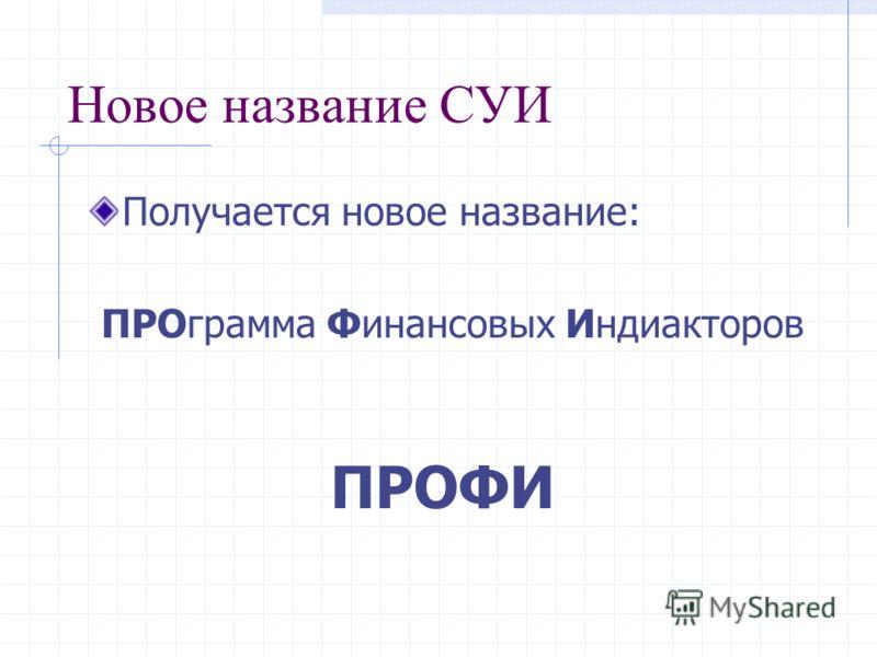 Новое название СУИ В русском языке слово « программа » означает как непосредственно программный продукт, так и план действий.