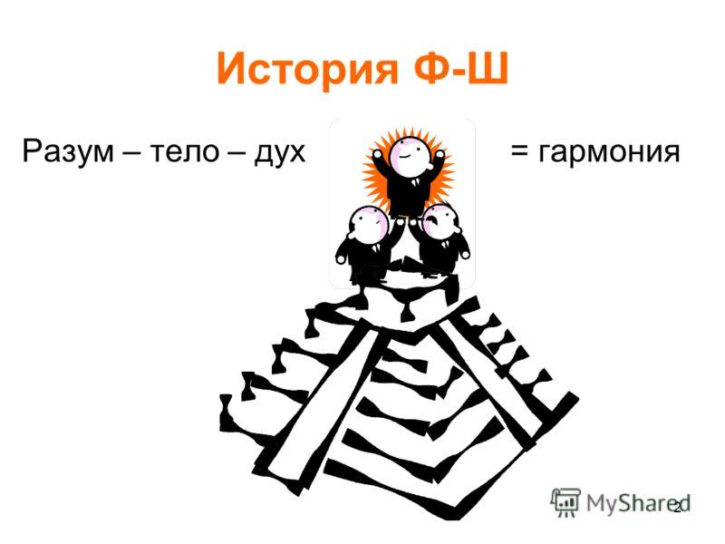 2 История Ф-Ш Разум – тело – дух = гармония