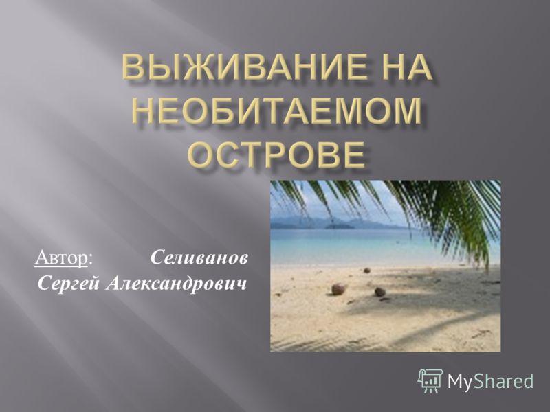 Автор : Селиванов Сергей Александрович
