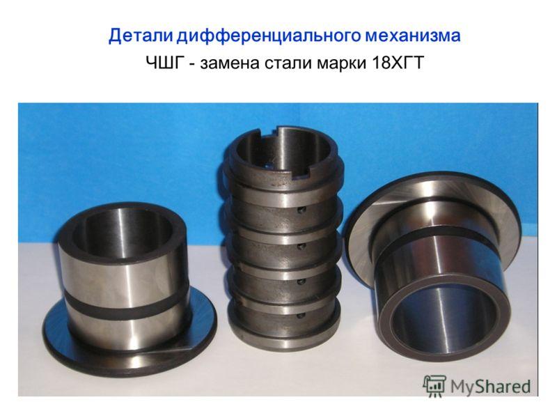 Детали дифференциального механизма ЧШГ - замена стали марки 18ХГТ