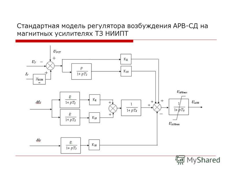 Стандартная модель регулятора возбуждения АРВ-СД на магнитных усилителях ТЗ НИИПТ