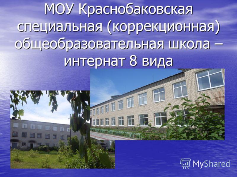МОУ Краснобаковская специальная (коррекционная) общеобразовательная школа – интернат 8 вида