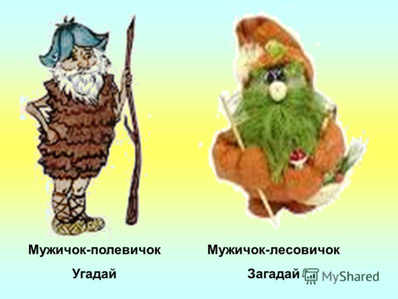 Мужичок-полевичок Угадай Мужичок-лесовичок Загадай
