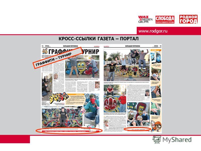 www.rodgor.ru КРОСС-ССЫЛКИ ГАЗЕТА – ПОРТАЛ ГРАФФИТИ – ТУРНИР