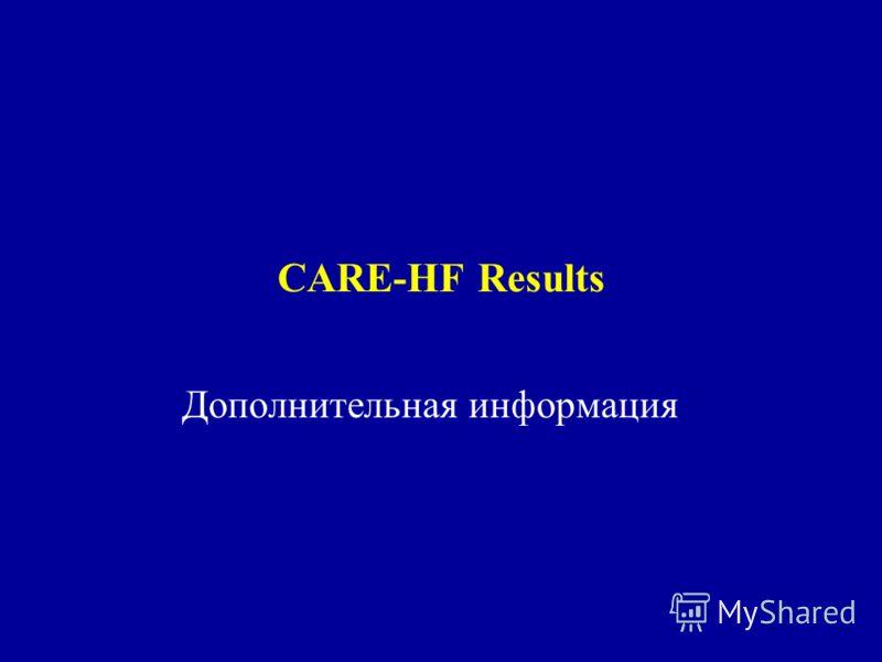 CARE-HF Results Дополнительная информация