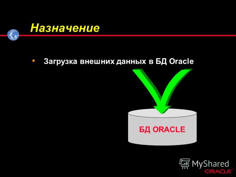 ® БД ORACLE Назначение Загрузка внешних данных в БД Oracle
