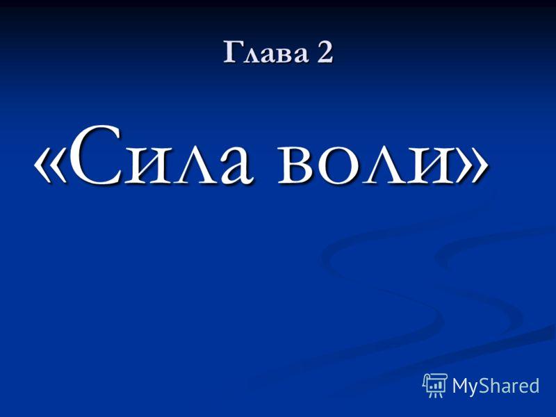 Глава 2 «Сила воли»