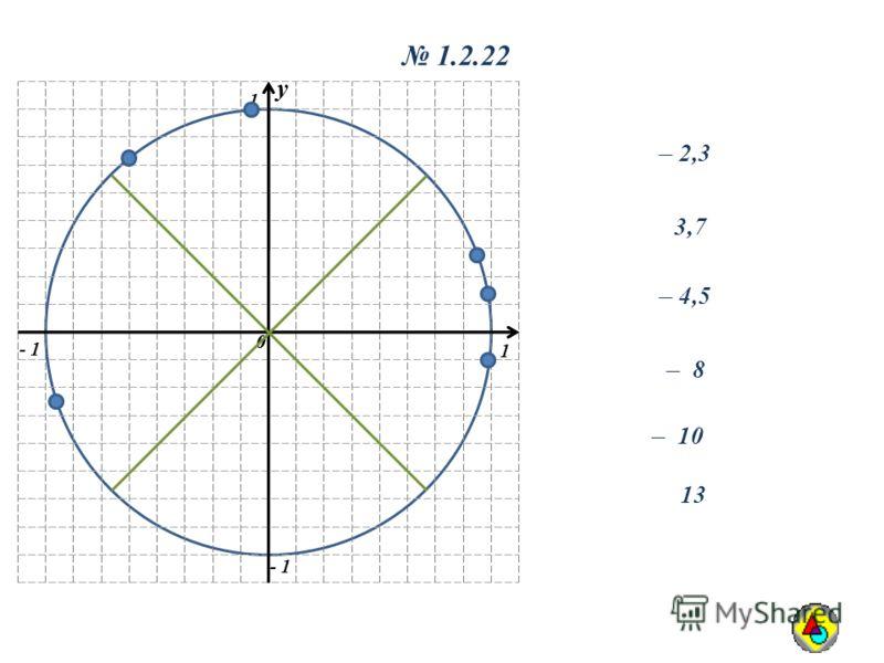 y 0 1 1 - 1 y 0 1.2.22 ̶ 2,3 3,7 ̶ 4,5 ̶ 10 ̶ 8 13