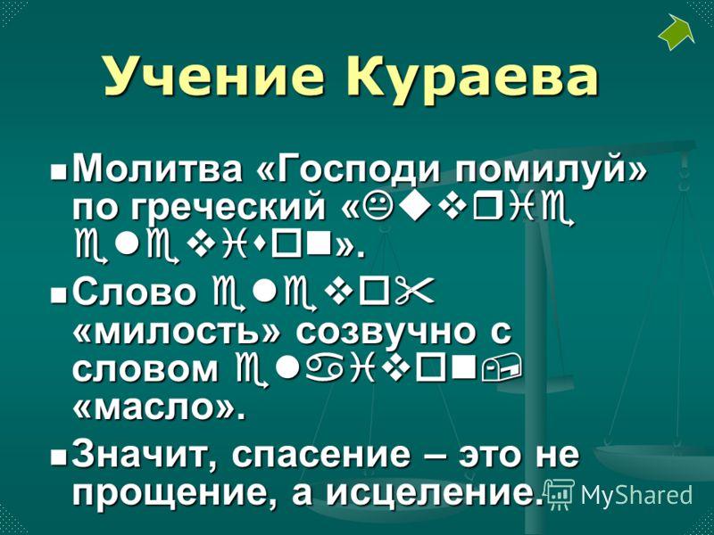 Молитва «Господи помилуй» по греческий «Kuvrie elevison». Молитва «Господи помилуй» по греческий «Kuvrie elevison». Слово elevo