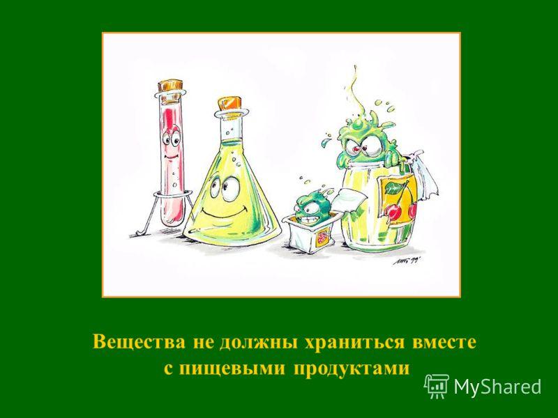 Остатки веществ не высыпайте и не вливайте обратно в сосуд с чистыми веществами