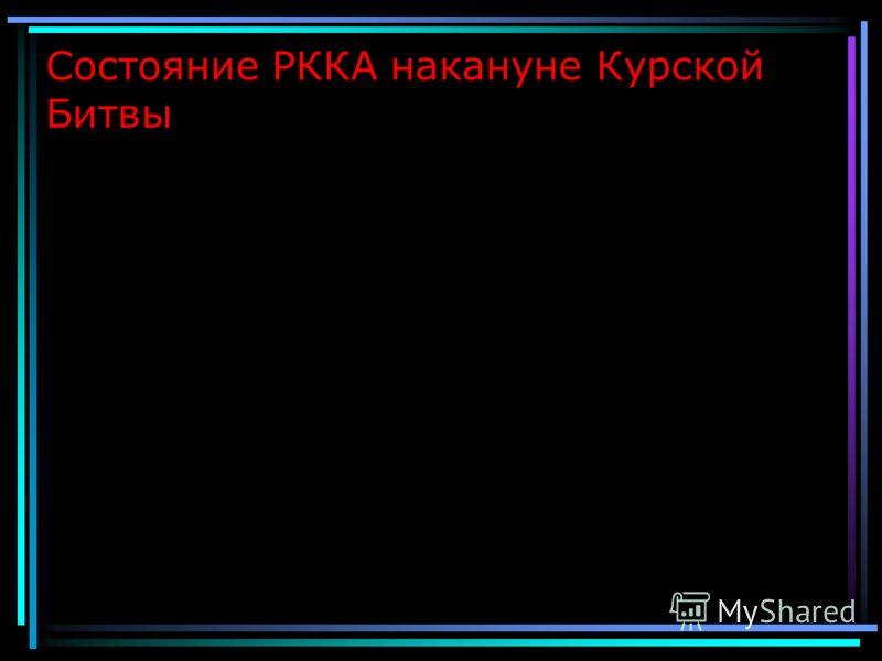 Состояние РККА накануне Курской Битвы