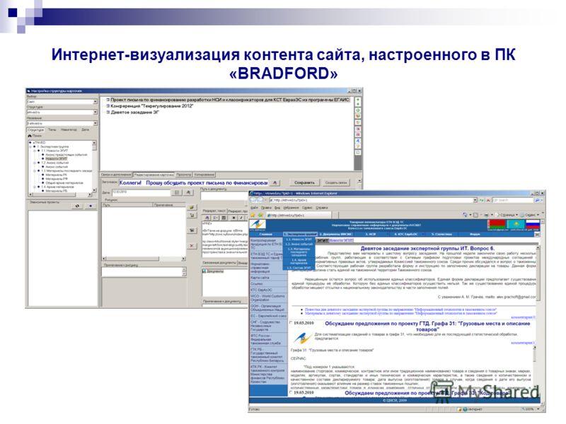 Интернет-визуализация контента сайта, настроенного в ПК «BRADFORD»