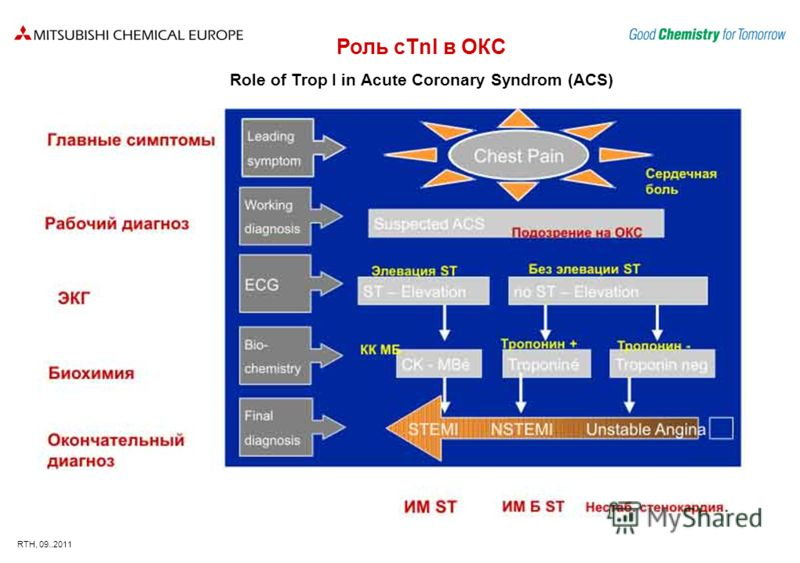 RTH, 09..2011 Роль cTnI в ОКС Role of Trop I in Acute Coronary Syndrom (ACS)
