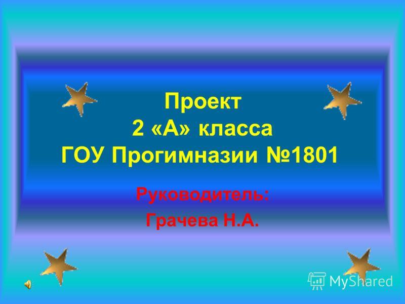 Проект 2 «А» класса ГОУ Прогимназии 1801 Руководитель: Грачева Н.А.