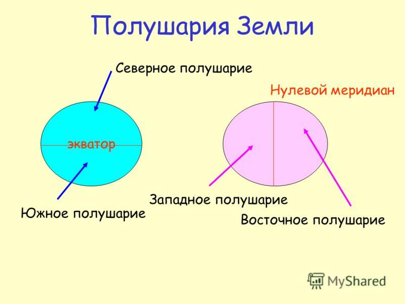 Линии-помощники Экватор – это линия, проведенная посередине Земли. Линии параллельные экватору называются параллелями. Меридианы и параллели образуют градусную сетку.
