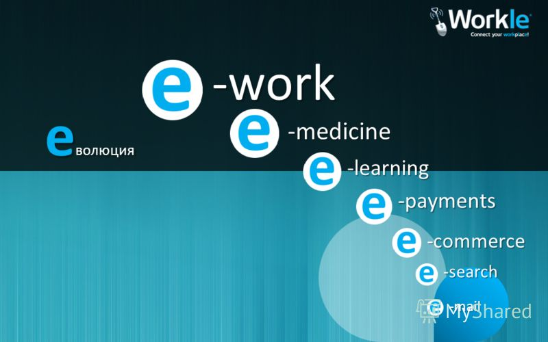 -mail -search -commerce -payments -learning -medicine -work е волюция