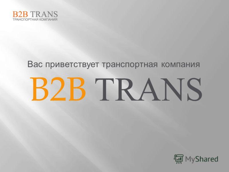 Вас приветствует транспортная компания B2B TRANS