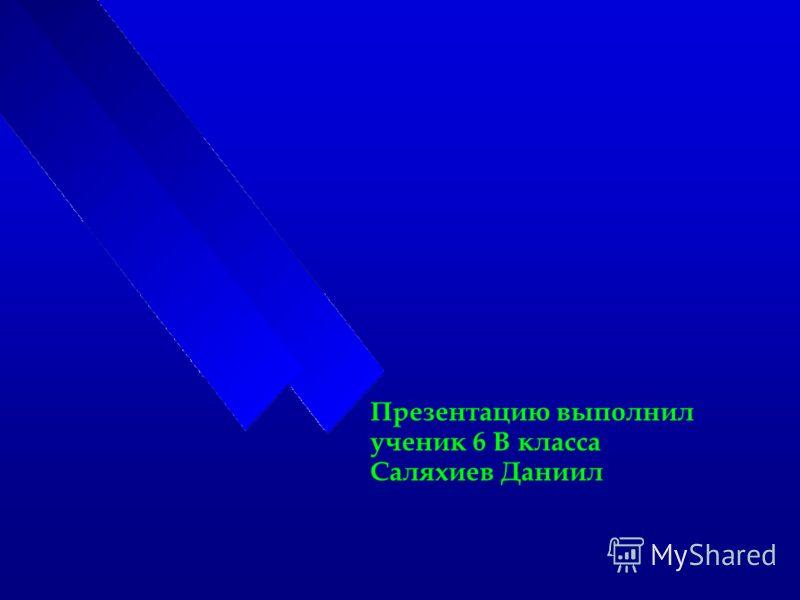 Презентацию выполнил ученик 6 В класса Саляхиев Даниил