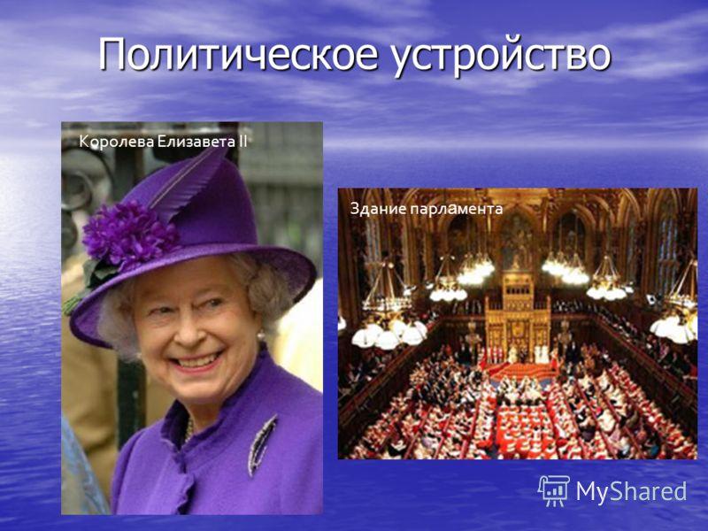 Политическое устройство Королева Елизавета II Здание парл а мента